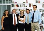 Com a mulher, Mafalda, e os filhos