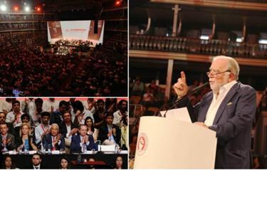 Manuel Alegre discursando na Conven��o do PS no Coliseu em Lisboa