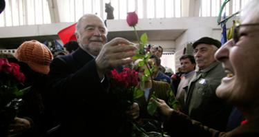 Manuel Alegre na campanha de 2016, foto de Ana Maria Baião Correia